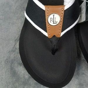 Ralph Lauren Black/White Wedge Size 9